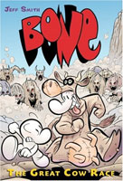 Bone: The Great Cow Race  cover art (Link goes to Powells)