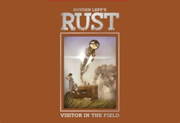 Rust: Visitor in the Field by Royden Lepp: Besides children (really more like child cyborgs), the war used actual robots who continued to fight when none of the human soldiers were still standing.
