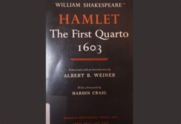 Hamlet: The First Quarto, 1603 by William Shakespeare: I got sucked into the discussion of piracy and story tropes.