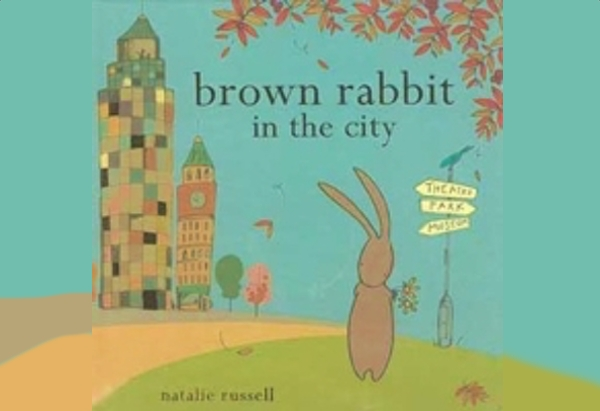 Brown Rabbit in the City by Natalie Russell:.