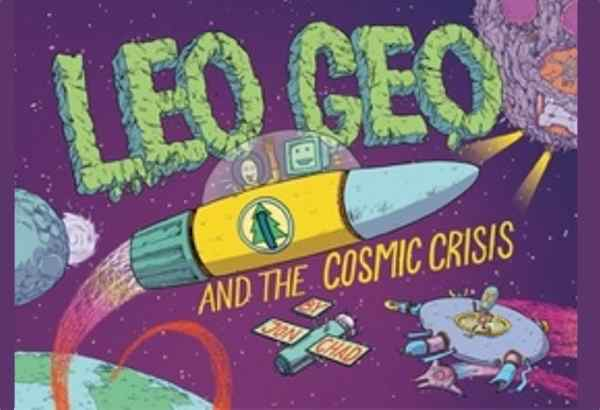 Leo Geo and the Cosmic Crisis by Jon Chad:  As the brothers are traveling through space, the pages are filled with background information about different aspects of space: facts about stars, planets, light speed, and so forth.