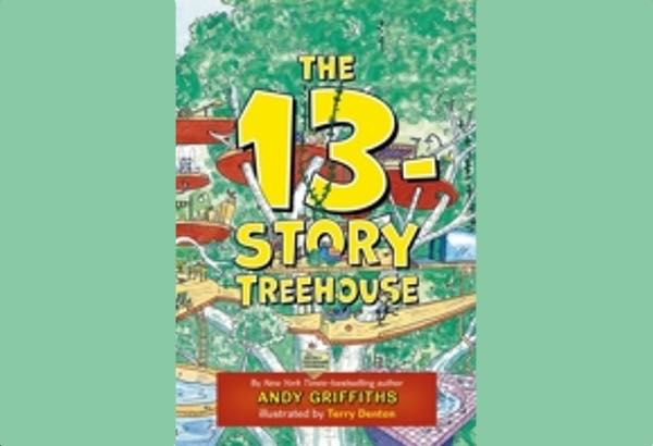 The 13-Story Treehouse by Andy Griffiths features great illustrations and a very silly treehouse.