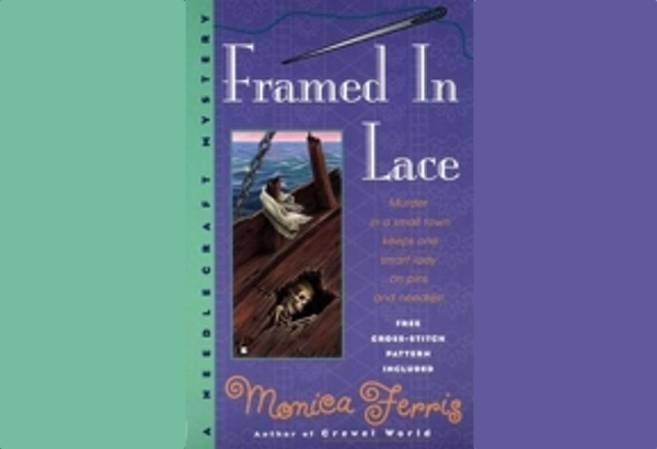 Framed in Lace by Monica Ferris: Whose body was found on the long sunk ferry?