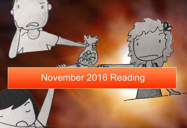 November reading and looking towards the last month