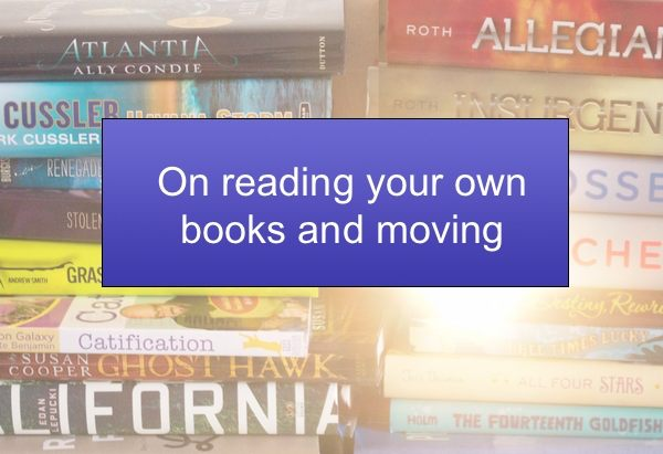 On reading your own books and moving