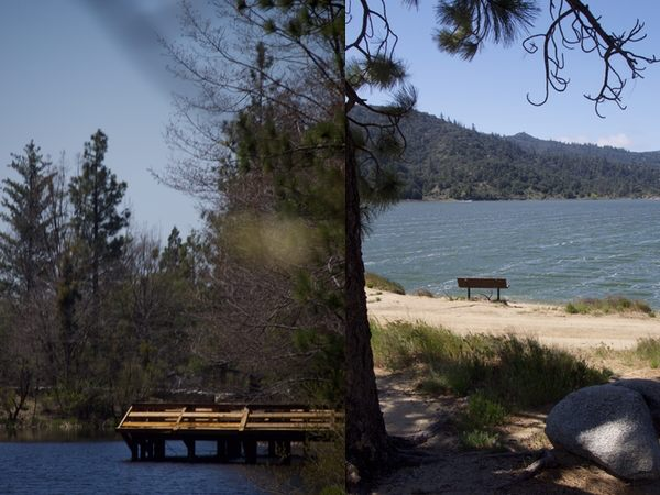 Left: Lake Fulmor, Right: Lake Hemet