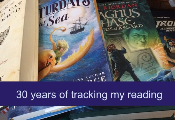 Thirty years of tracking my reading.