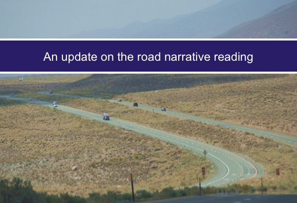 An update on the road narrative reading