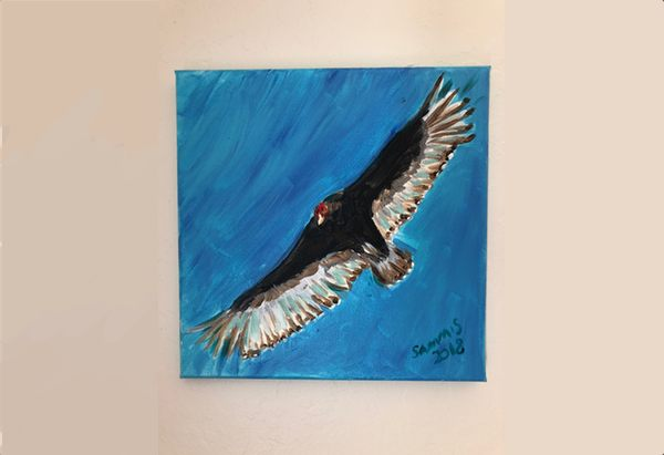Turkey vulture done with acrylics