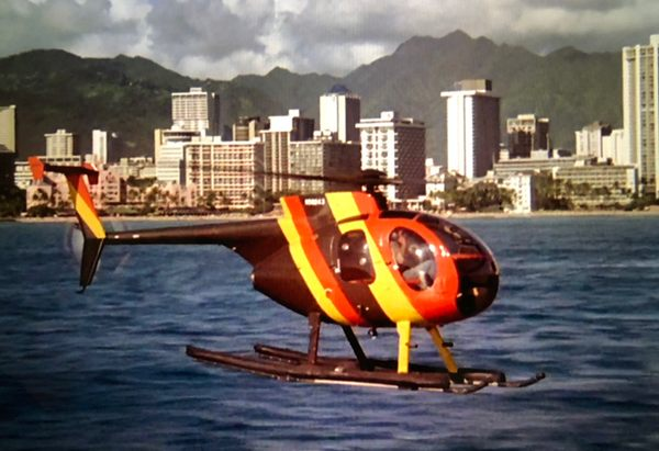 Island Hopper helicopter from 1980s openin  title sequence