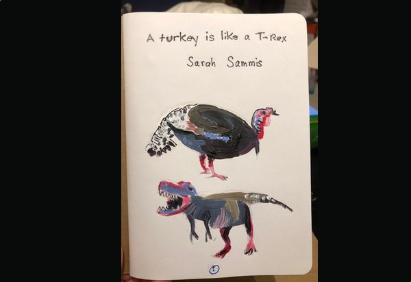 Title page for B528255, aka a turkey is like a T-Rex.