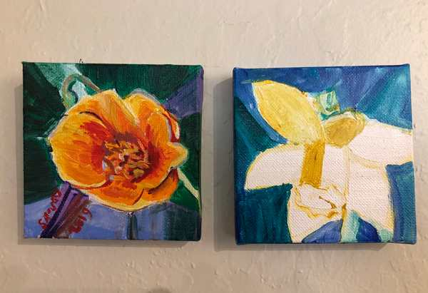 Mini Nature paintings 1 and 2