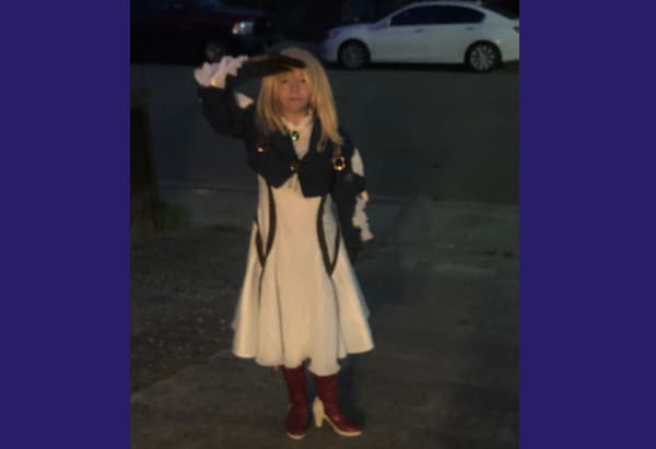My daughter dressed as Violet Evergarden