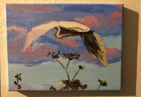 Great egret: wip
