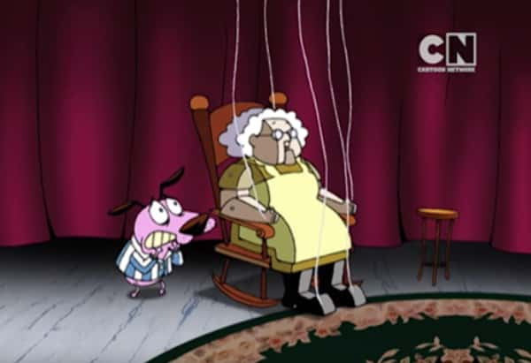 A screenshot from Courage the Cowardly Dog