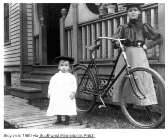 Bicycle in 1890 via Southwest Minneapolis Patch