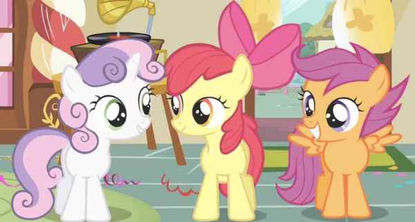 The Cutie Mark crusaders from My Little Pony: Friendship is Magic