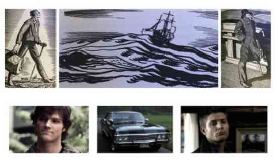 Dettelbach makes a convincing argument for ON THE ROAD being an homage to MOBY-DICK. That in turns makes SUPERNATURAL and homage to MOBY-DICK.