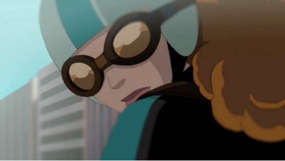 A still of the Goggles Delivery Girl from the DOUBLE VISION episode of GENERATOR REX