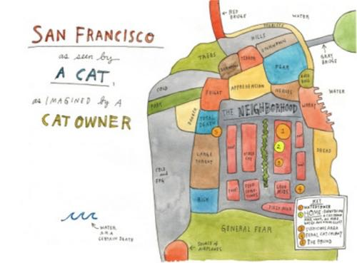 Map of SF from the point of view of cat owners