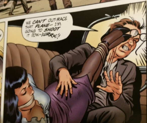 A panel from the Rocketeer