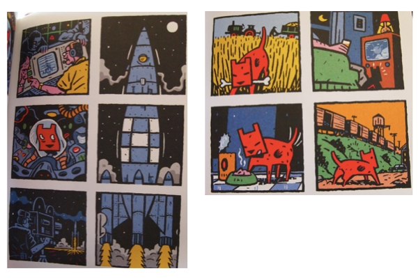 Two sets of panels from Spacedog